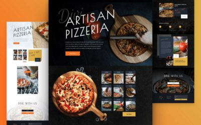 Free Pizzeria layout pack. Logo, brand pack, and site setup -30%